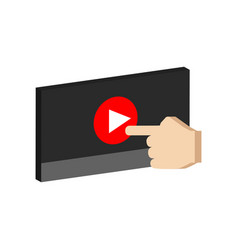 Play video concept symbol flat isometric icon or vector