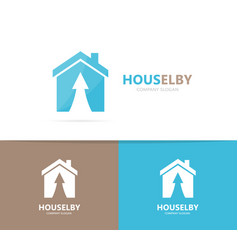 real estate and arrow up logo vector image