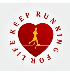 Running symbol vector image vector image