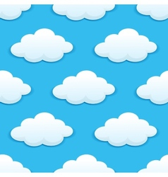 Seamless pattern with fluffy clouds vector image vector image