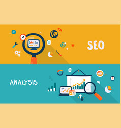 seo and analysis vector image