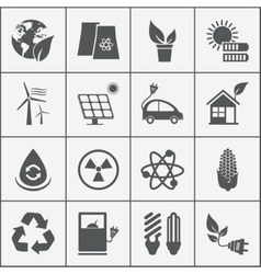 Set of eco energy icons vector image vector image