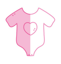 Silhouette baby clothes that used in the body vector