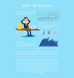 startup success visualization vector image