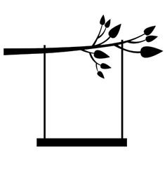 Tree swing icon image vector