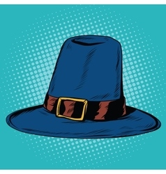 Vintage hat pilgrim vector