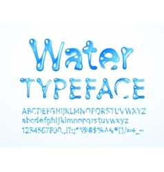water typeface vector image