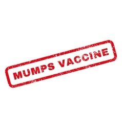 Mumps vaccine rubber stamp vector