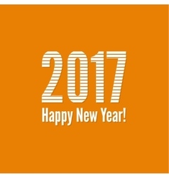2017 Happy new yea vector image