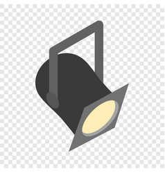 Theater spotlight isometric icon vector