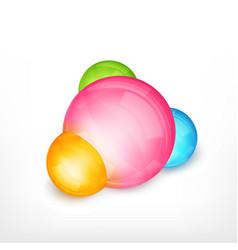 abstract molecule design vector image