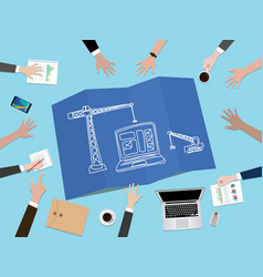 Website development construction concept vector