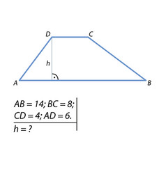 Problem of finding the height of the trapezoid vector