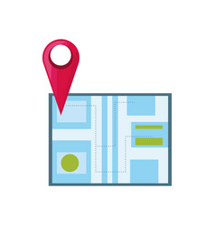 Map pin location vector