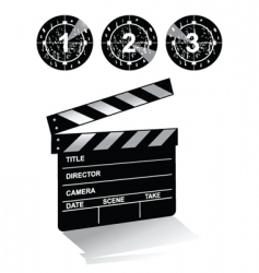Clapper board1 vector
