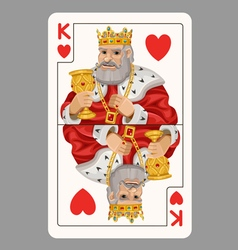 King of hearts playing card vector