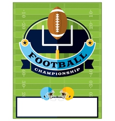 Football championship flyer template vector