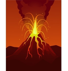 volcano poster vector image