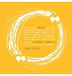 Circle frame with quote on yellow background vector