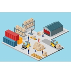 Icon 3d isometric process of the warehouse vector
