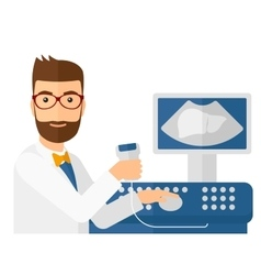 Male ultrasound specialist vector