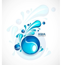Aqua background vector