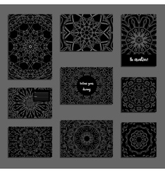 Set of universal vintage card templates vector image