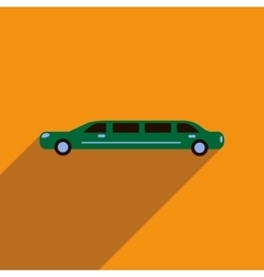 Flat web icon with long shadow limousine vector