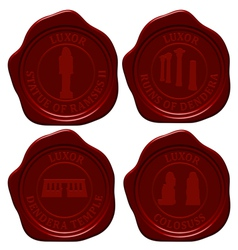 Egypt sealing wax set vector