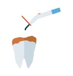 Dental drill equipment vector
