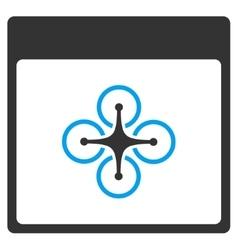 Air copter calendar page toolbar icon vector