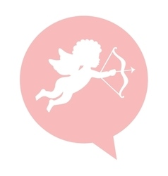 angel cupid isolated icon vector image