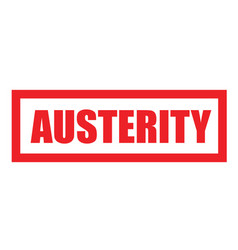 Austerity sticker stamp vector