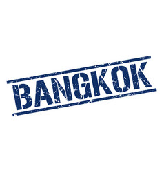 Bangkok blue square stamp vector