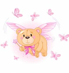 bear flying vector image vector image