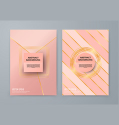 brochure template with rose goldbackground vector image vector image