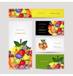 Business cards design fruit background vector