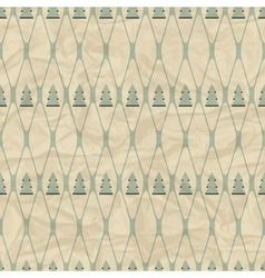 Christmas and Holidays seamless pattern with tree vector image vector image