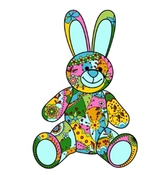 Colorful bunny toy vector image vector image