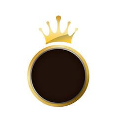 crown decorative emblem vector image vector image