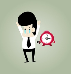 Cry businessman vector