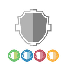 Custom shield icons vector