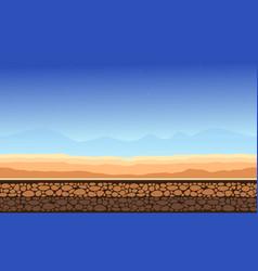 Desert landscape game background style vector