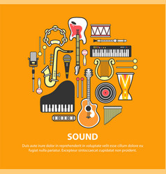 Different music instruments vector