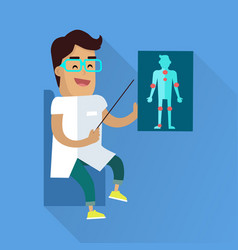 Doctor at work flat style vector