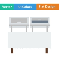 Flat design icon of chafing dish vector