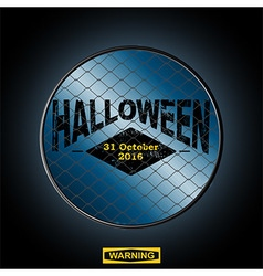 Halloween sign in a border vector image vector image