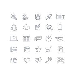 Internet marketing line icons set vector image vector image