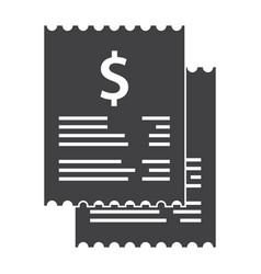 Invoice bills icon vector