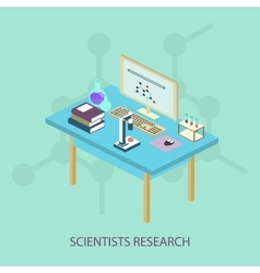 Laboratory research chemical isometric style vector image